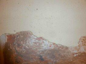 geamlte Steinimitation auf Wand: Detail